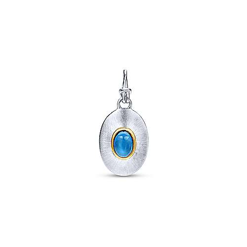 925 Silver And 18k Yellow Gold Treasure Chests Fashion Pendant angle 1