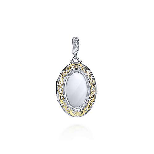 Gabriel - 925 Silver And 18k Yellow Gold Treasure Chests Locket Pendant
