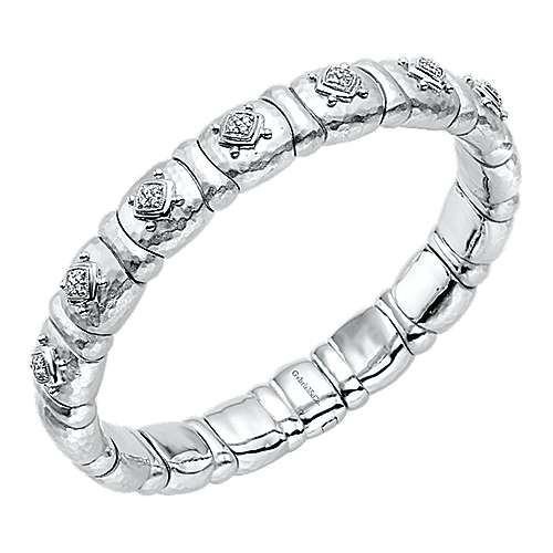 925 Silver And Stainless Steel Souviens Bangle