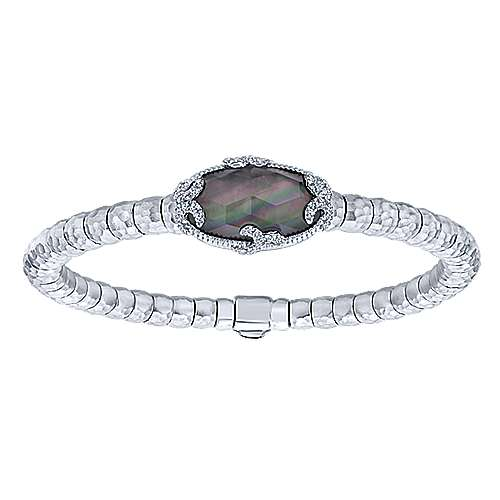 Gabriel - 925 Silver And Stainless Steel Souviens Bangle