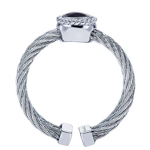 925 Silver And Stainless Steel Steel My Heart Fashion Ladies' Ring angle 2