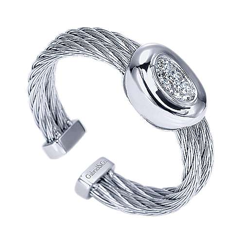925 Silver And Stainless Steel Steel My Heart Fashion Ladies' Ring angle 3