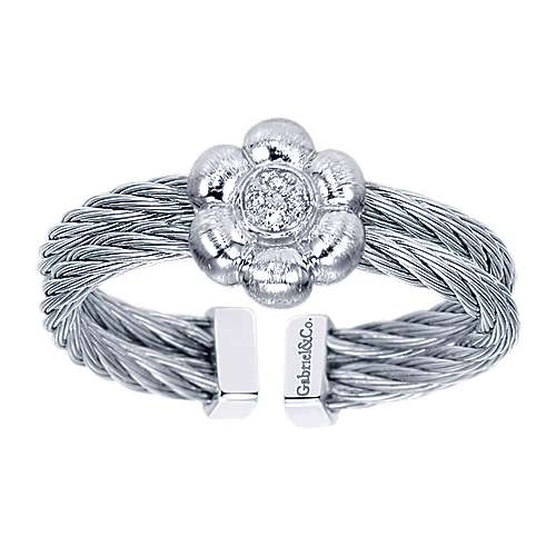 925 Silver And Stainless Steel Steel My Heart Fashion Ladies' Ring angle 4