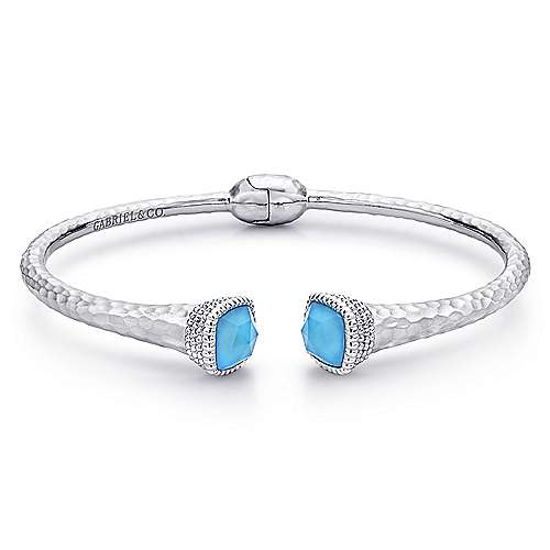 Gabriel - 925 Silver And Stainless Steel Temptation Bangle