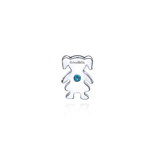 925 Silver Aquamarine Locket Charm Pendant angle 2