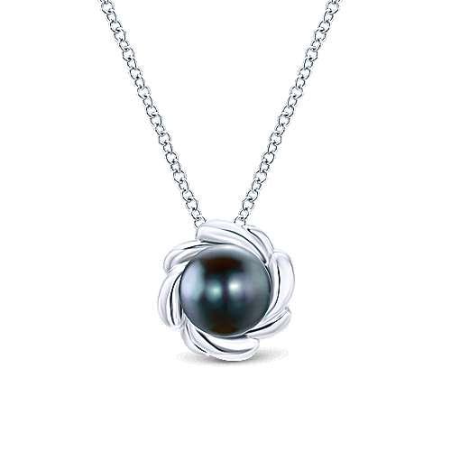 Gabriel - 925 Silver Floral Fashion Necklace