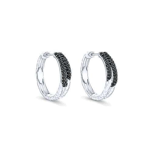 Gabriel - 925 Silver Souviens Classic Hoop Earrings