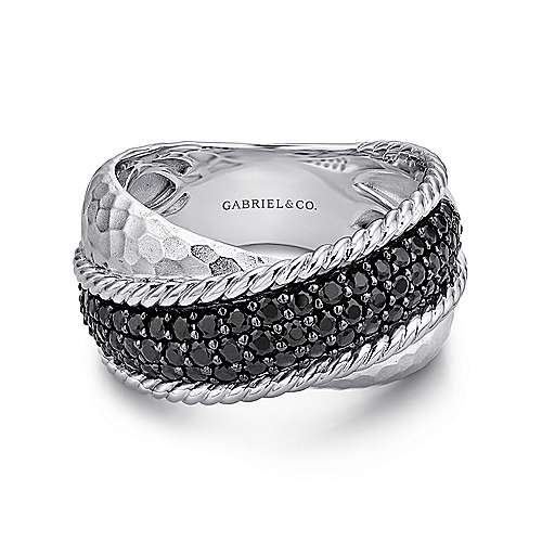 Gabriel - 925 Silver Souviens Wide Band Ladies' Ring
