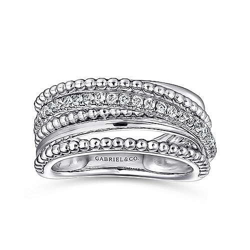 925 Silver Bombay Wide Band Ladies
