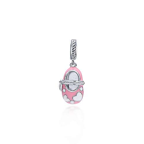 925 Silver Bootee Charm Pendant angle 1