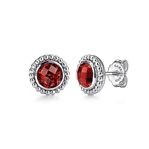 925 Silver Bujukan Stud Earrings angle 1