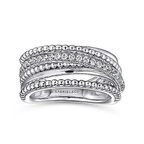 925 Silver Bujukan Wide Band Ladies' Ring angle 4
