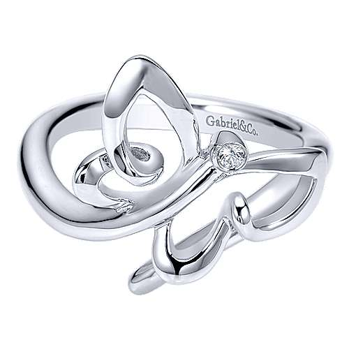 925 Silver Butterfly Fashion Ladies' Ring angle 1