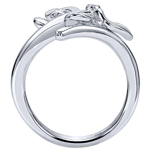 925 Silver Butterfly Ladies' Ring angle 2