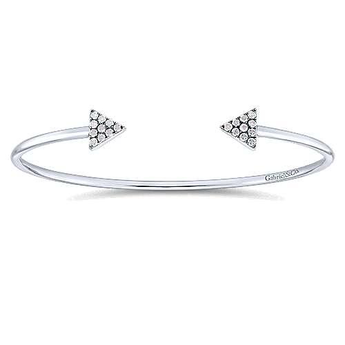 Gabriel - 925 Silver CandleLight Diamond Bangle