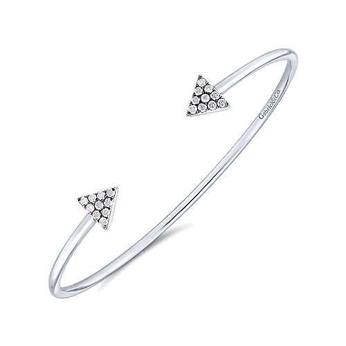 925 Silver Candlelight Diamond Bangle angle 2