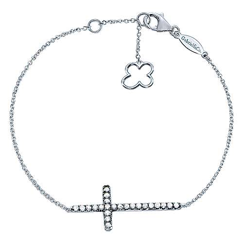 Gabriel - 925 Silver Shadow Play Cross Bracelet
