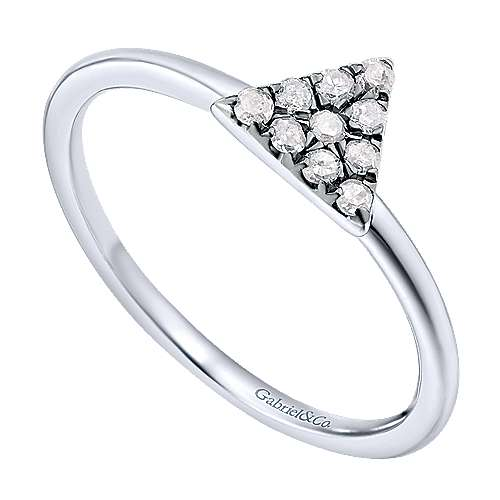 925 Silver Candlelight Diamond Fashion Ladies