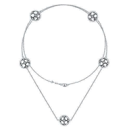 925 Silver Candlelight Diamond Fashion Necklace angle 2