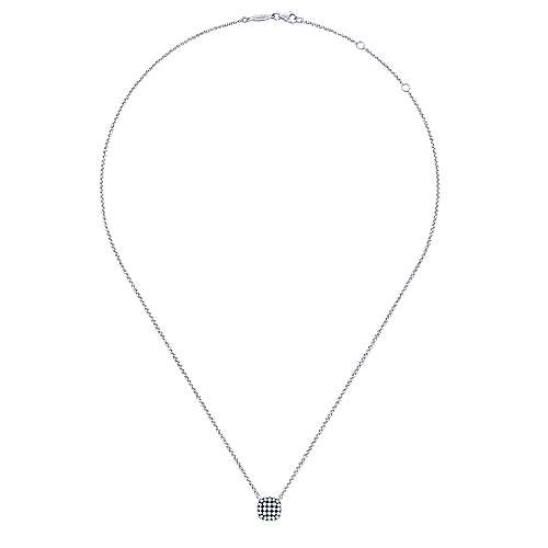 925 Silver Candlelight Diamond Fashion Necklace angle 2