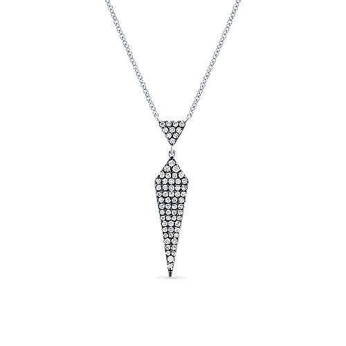 925 Silver Candlelight Diamond Fashion Necklace angle 1