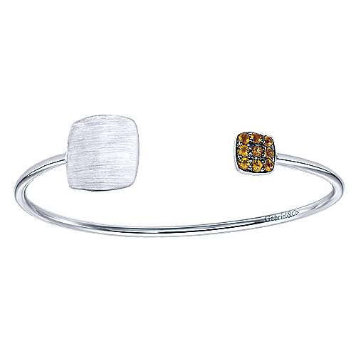 925 Silver Citrine Engravable Bangle