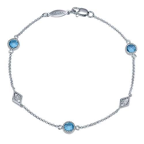 Gabriel - 925 Silver Color Solitaire Chain Bracelet