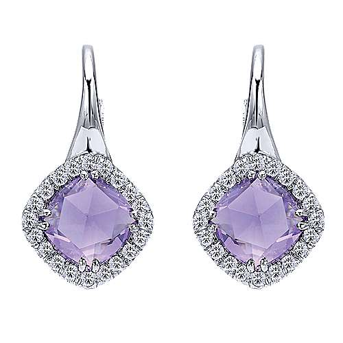 Gabriel - 925 Silver Color Solitaire Drop Earrings