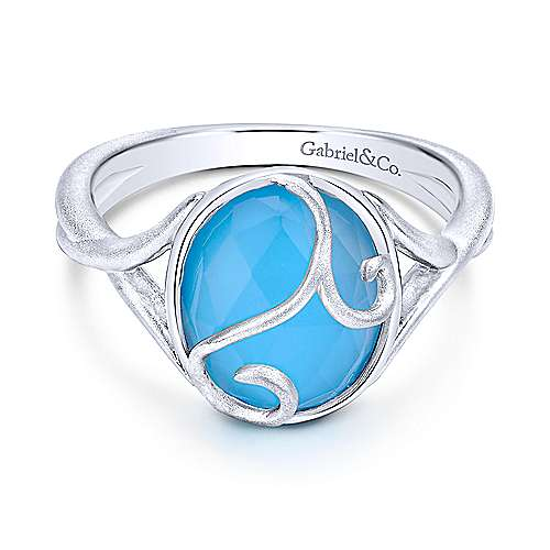 Gabriel - 925 Silver Color Solitaire Fashion Ladies' Ring