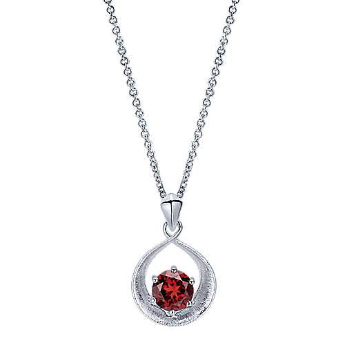 Gabriel - 925 Silver Color Solitaire Fashion Necklace