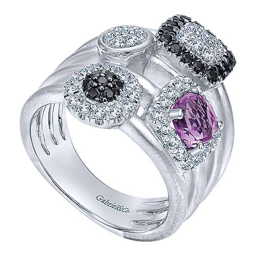 925 Silver Constellations Fashion Ladies' Ring angle 3