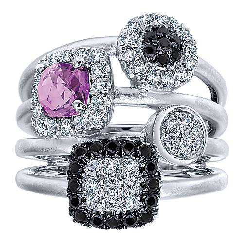 925 Silver Constellations Fashion Ladies' Ring angle 4