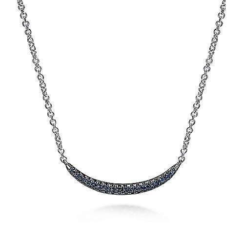 925 Silver Contemporary Bar Necklace