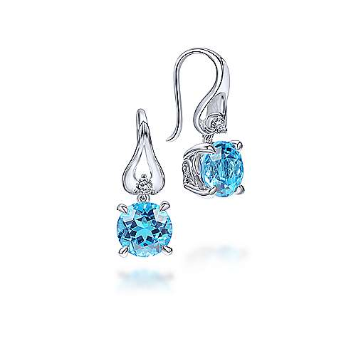 925 Silver Contemporary Drop Earrings