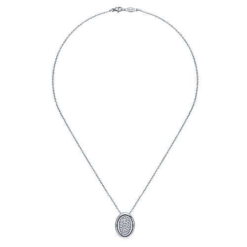 925 Silver Contemporary Fashion Necklace angle 2