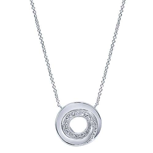 Gabriel - 925 Silver Contemporary Fashion Necklace