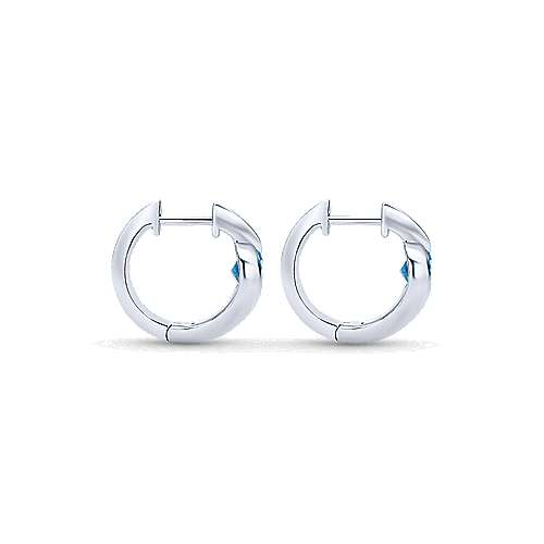 925 Silver Contemporary Huggie Earrings