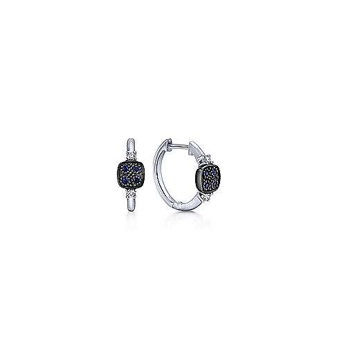 Gabriel - 925 Silver Contemporary Huggie Earrings