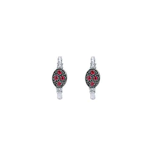 925 Silver Contemporary Huggie Earrings