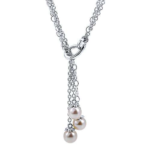 Gabriel - 925 Silver Contemporary Lariat Necklace