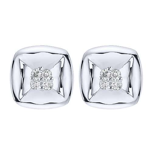 Gabriel - 925 Silver Contemporary Stud Earrings