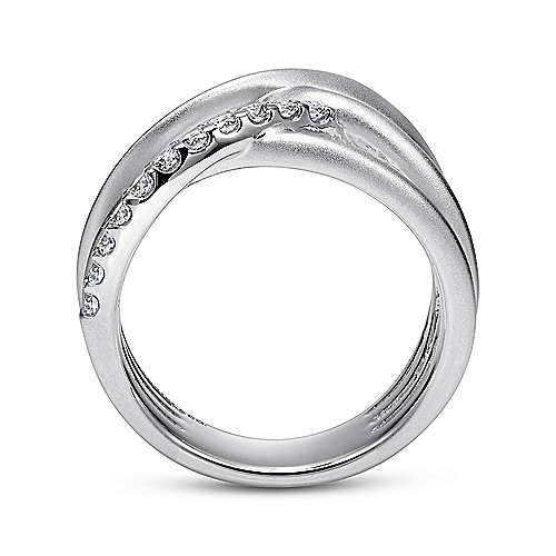925 Silver Contemporary Twisted Ladies' Ring angle 2