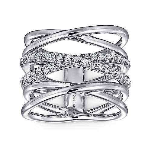 925 Silver Contemporary Twisted Ladies' Ring angle 4