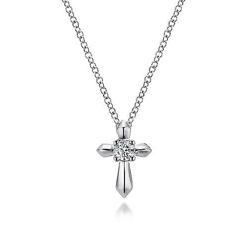 Gabriel - 925 Silver Secret Garden Cross Necklace