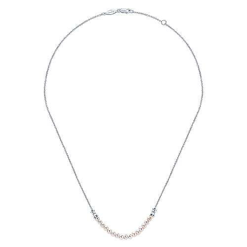 925 Silver Cultured Pearl Fashion Necklace angle 2