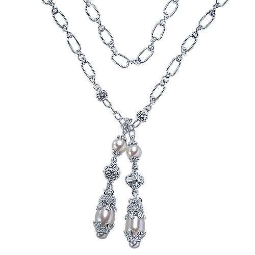 Gabriel - 925 Silver Infinite Gems Lariat Necklace