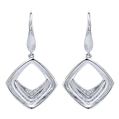 Gabriel - 925 Silver Contemporary Drop Earrings