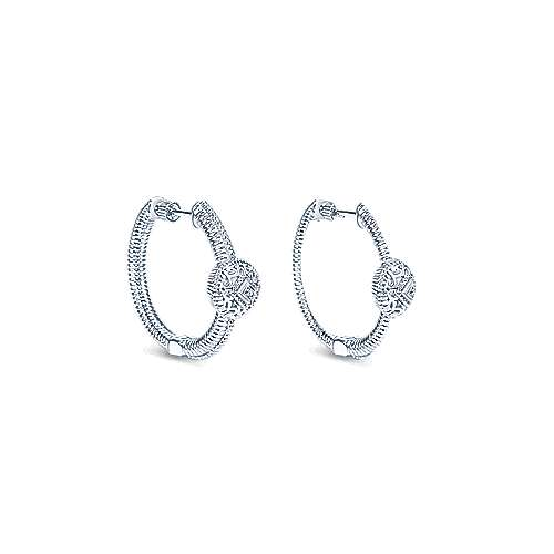 925 Silver Dia Earrings angle 1