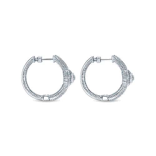 925 Silver Dia Earrings angle 2
