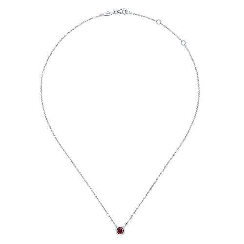 925 Silver Dia Gar Necklace angle 2